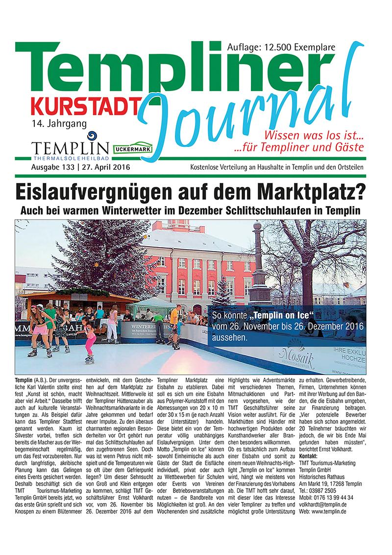Templiner Kurstadt Journal 133 vom 27.04.2016