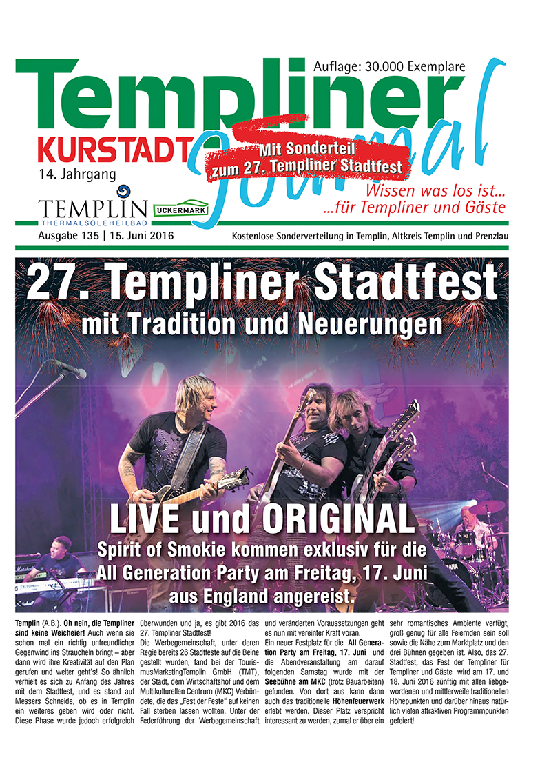 Templiner Kurstadt Journal 135 vom 15.06.2016
