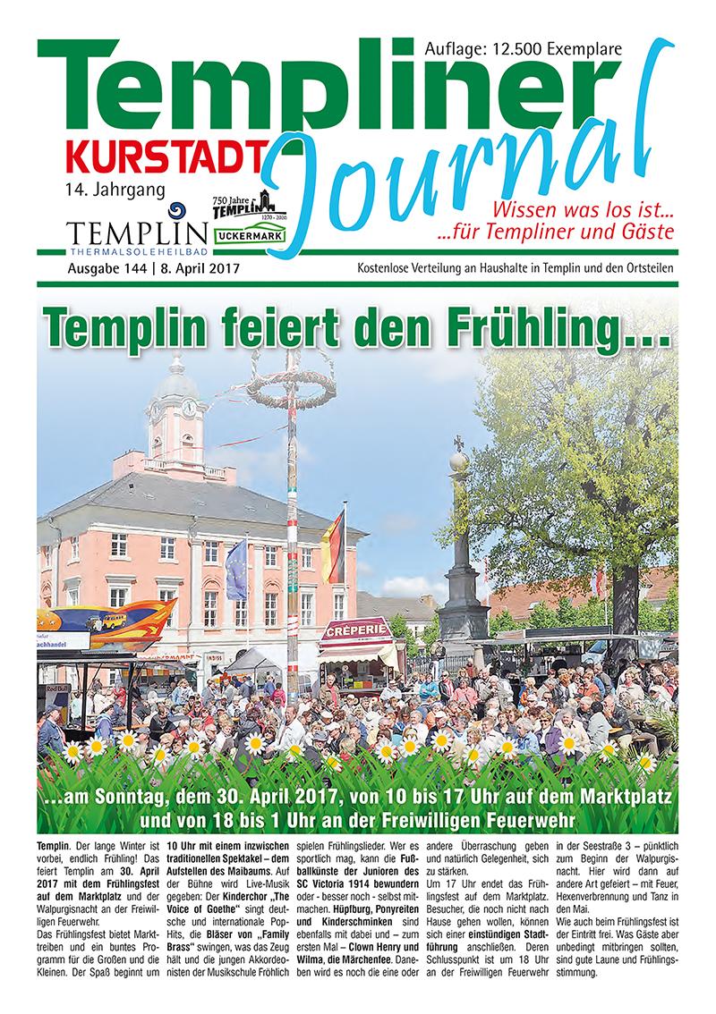 Templiner Kurstadt Journal 144 vom 08.04.2017