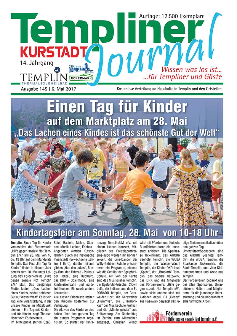 Templiner Kurstadt Journal 145 vom 06.05.2017
