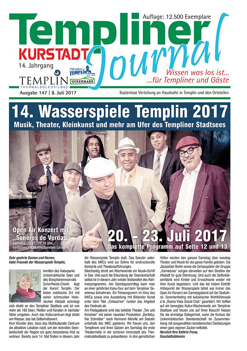 Templiner Kurstadt Journal 147 vom 08.07.2017