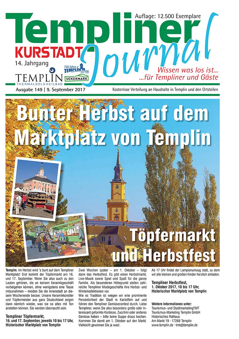 Templiner Kurstadt Journal 149 vom 09.09.2017
