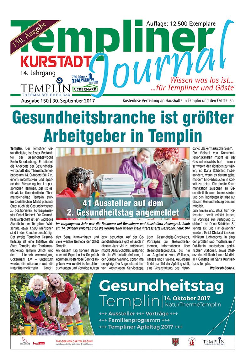 Templiner Kurstadt Journal 150 vom 30.09.2017