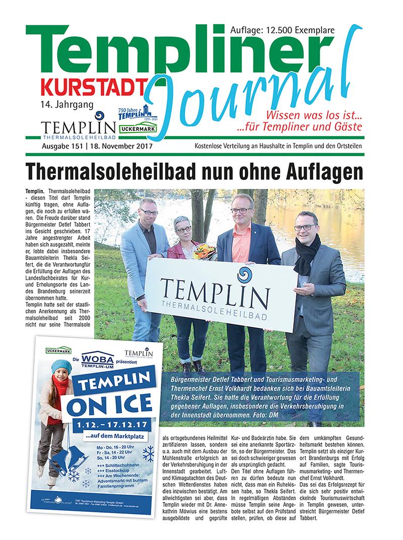 Templiner Kurstadt Journal 151 vom 18.11.2017
