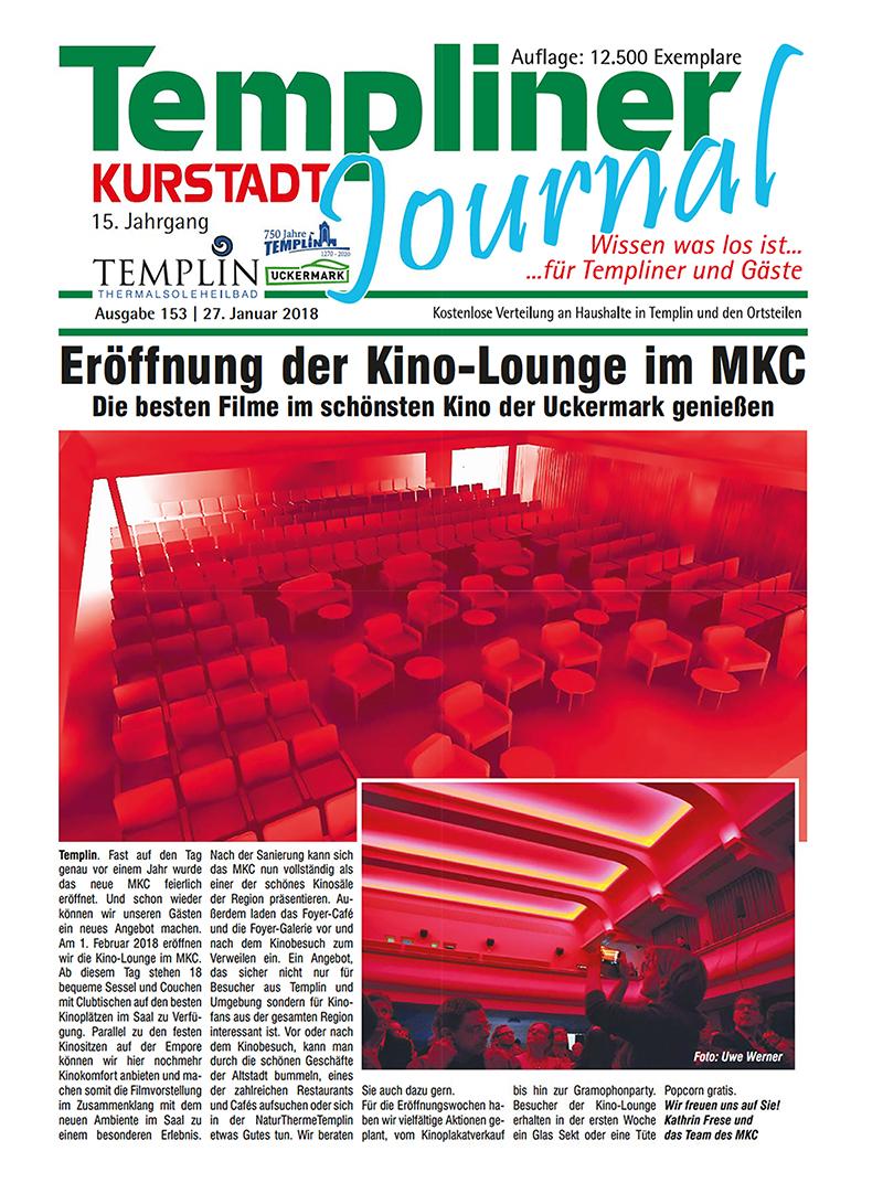 Templiner Kurstadt Journal 153 vom 22.01.2018