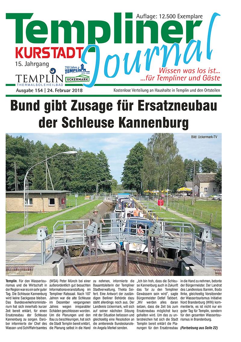 Templiner Kurstadt Journal 154 vom 24.02.2018
