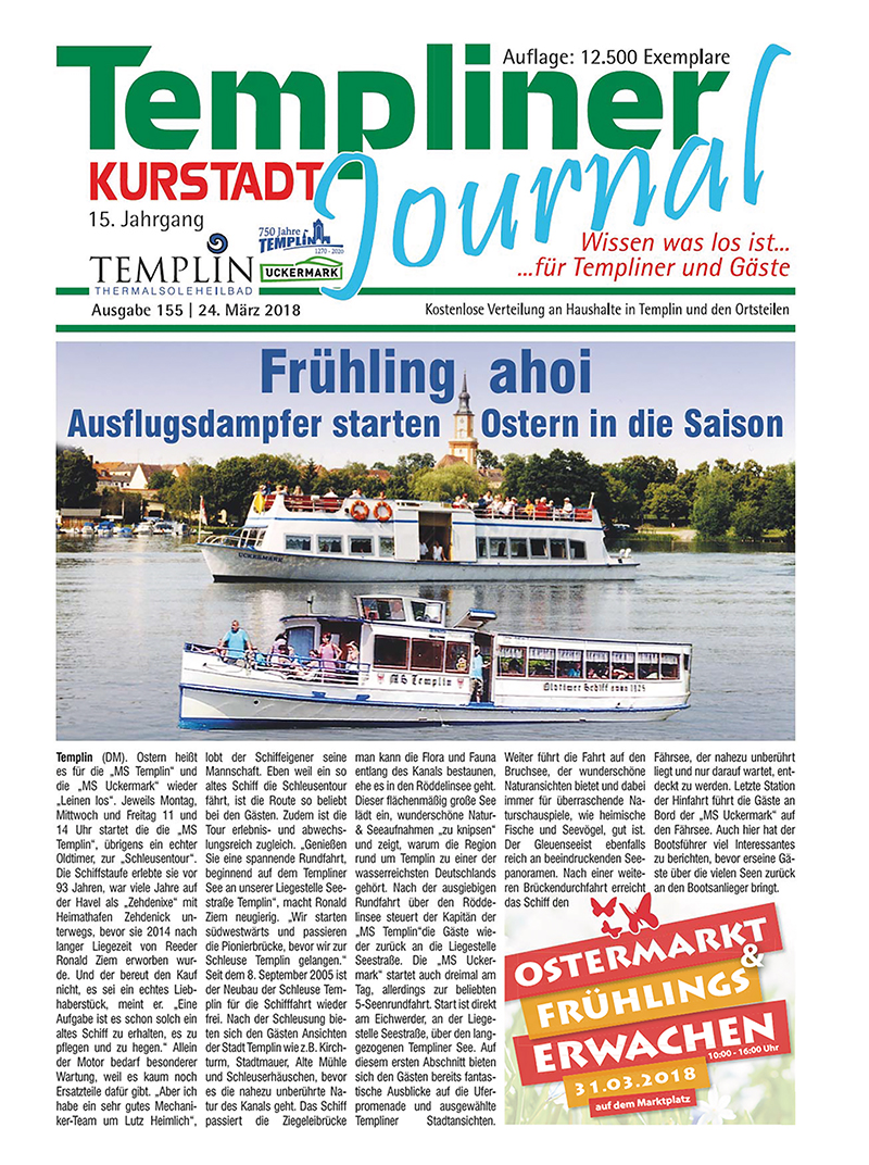 Templiner Kurstadt Journal 155 vom 24.03.2018