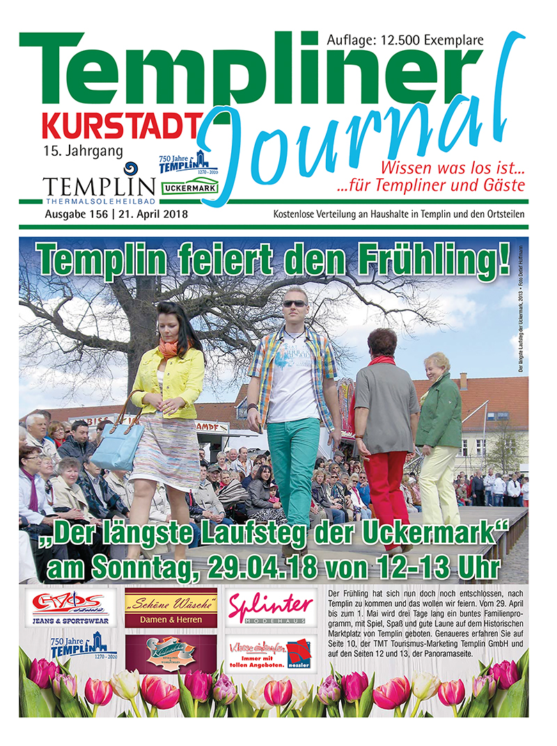 Templiner Kurstadt Journal 156 vom 21.04.2018