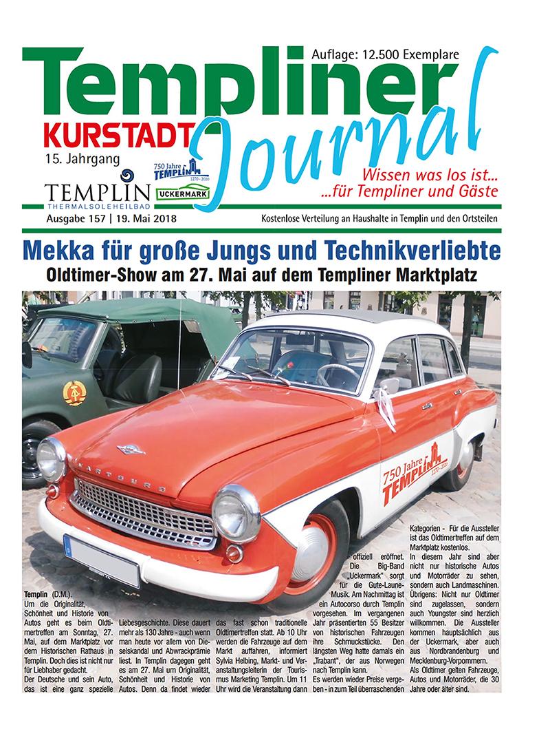 Templiner Kurstadt Journal 157 vom 19.05.2018