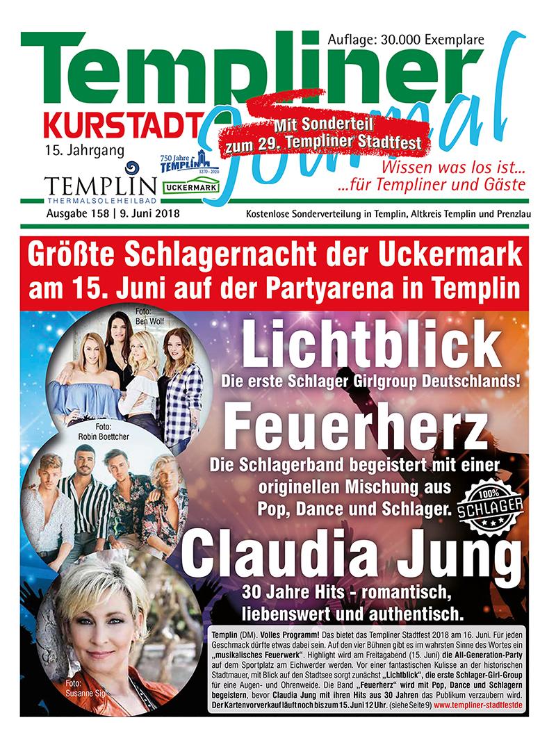Templiner Kurstadt Journal 158 vom 09.06.2018
