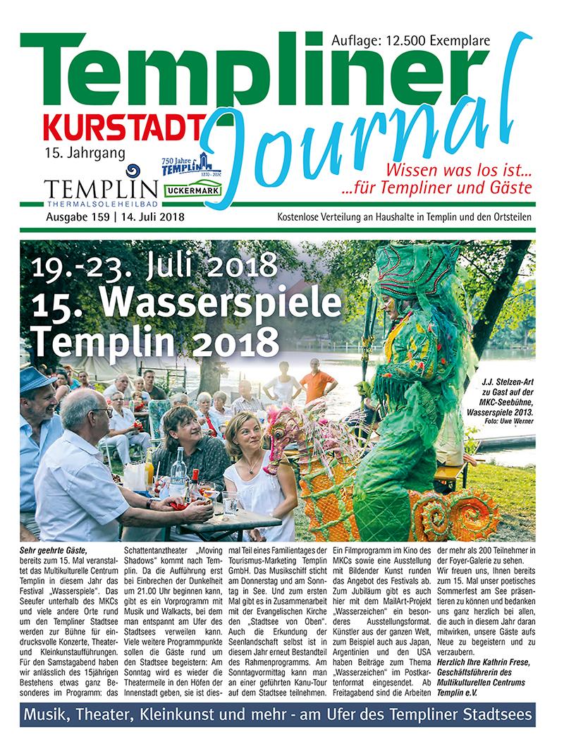 Templiner Kurstadt Journal 159 vom 14.07.2018