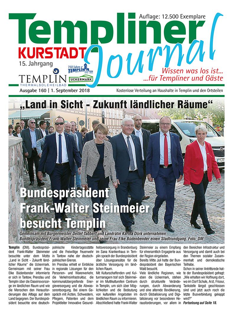 Templiner Kurstadt Journal 160 vom 01.09.2018