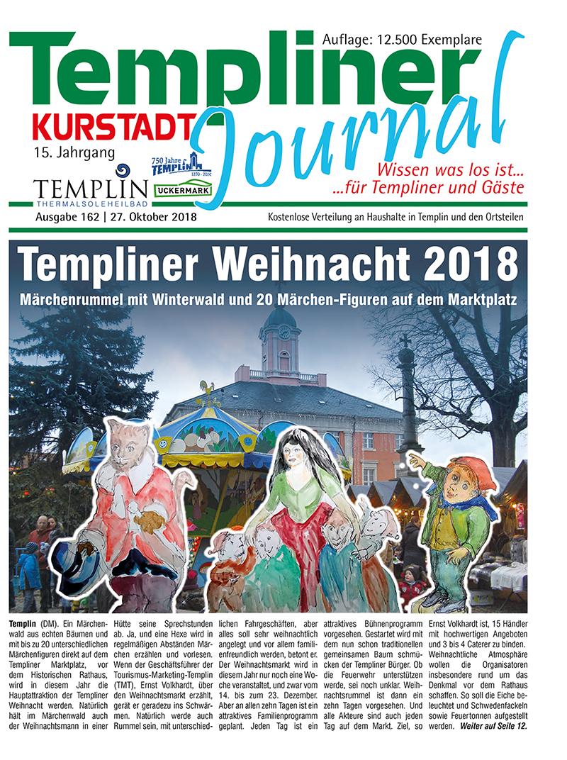 Templiner Kurstadt Journal 162 vom 27.10.2018