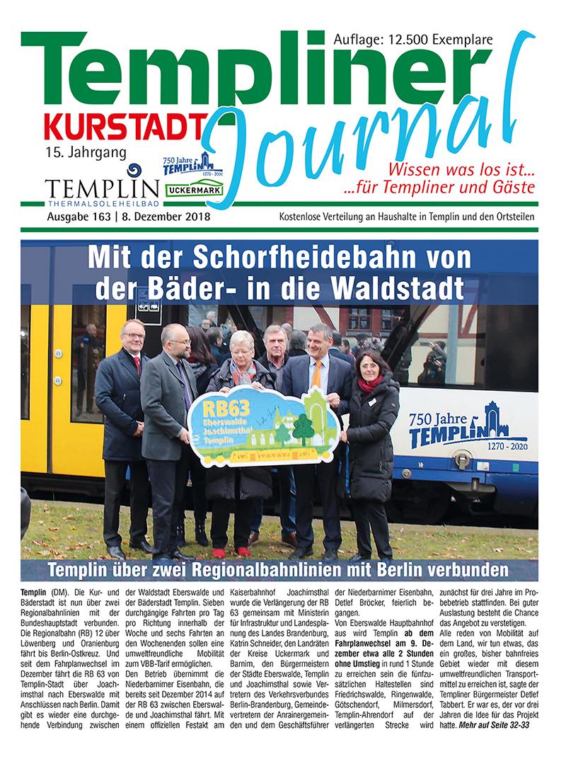 Templiner Kurstadt Journal 163 vom 08.12.2018