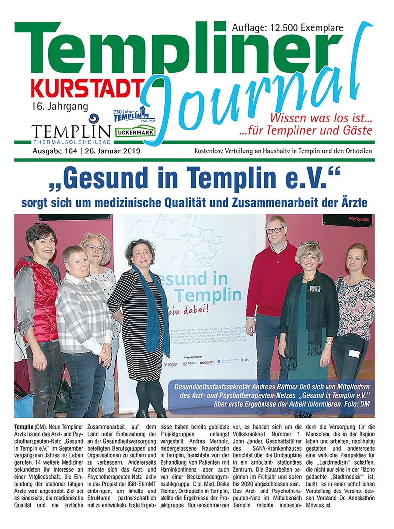 Templiner Kurstadt Journal 164 vom 26.01.2019