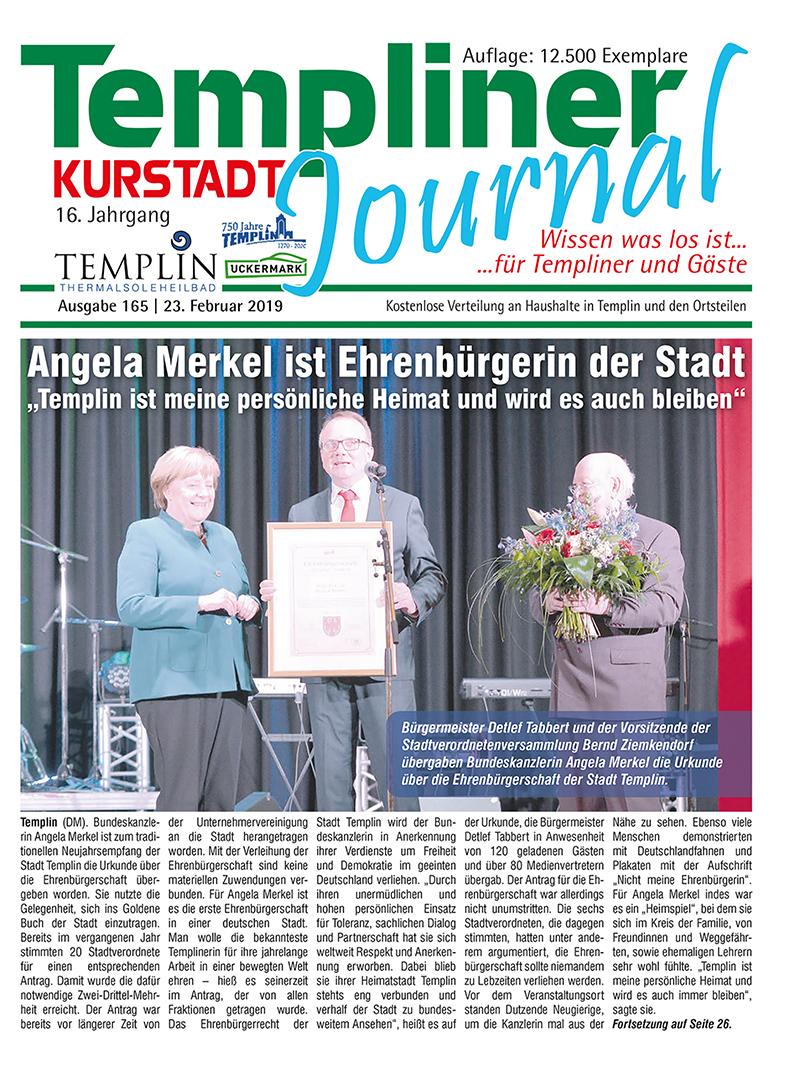Templiner Kurstadt Journal 165 vom 23.02.2019