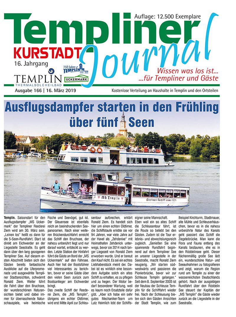Templiner Kurstadt Journal 166 vom 16.03.2019