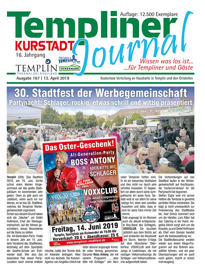 Templiner Kurstadt Journal 167 vom 13.04.2019