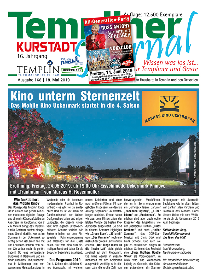 Templiner Kurstadt Journal 168 vom 18.05.2019