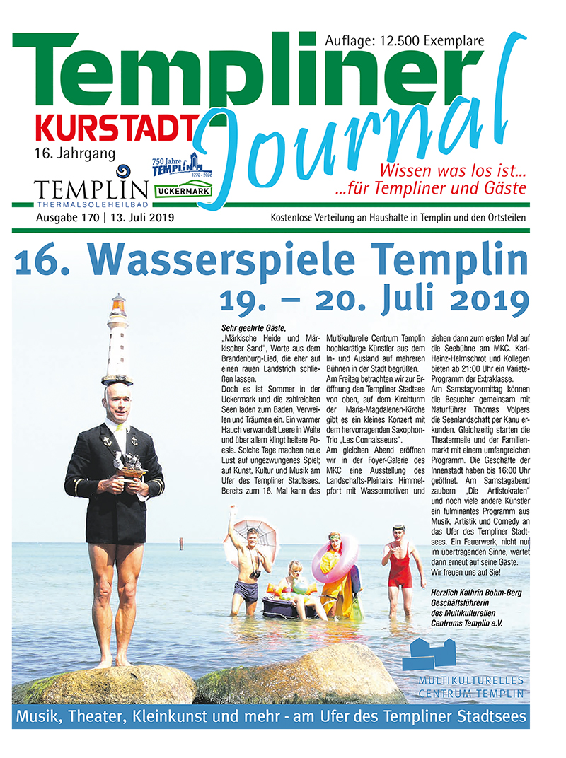 Templiner Kurstadt Journal 170 vom 13.07.2019