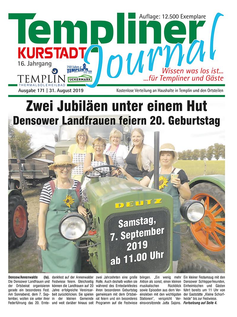 Templiner Kurstadt Journal 171 vom 31.08.2019