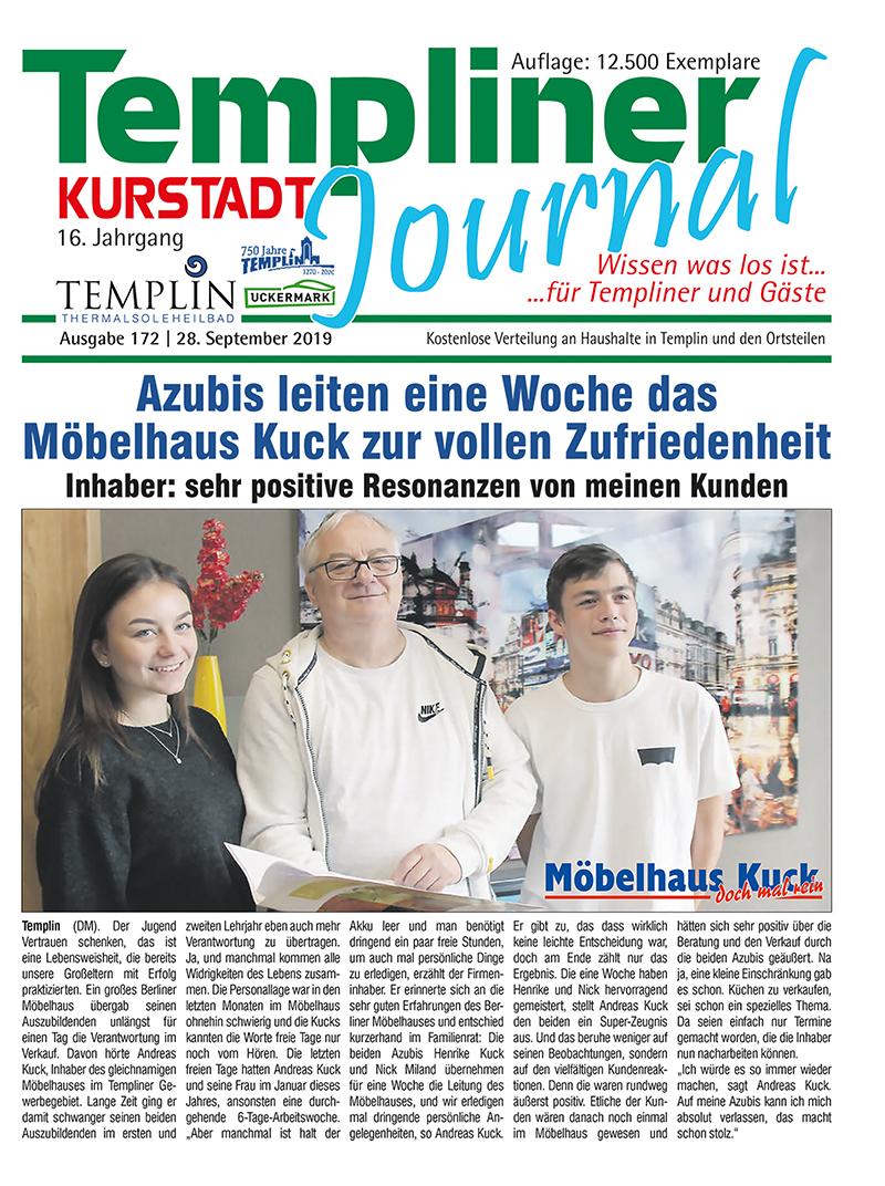 Templiner Kurstadt Journal 172 vom 28.09.2019