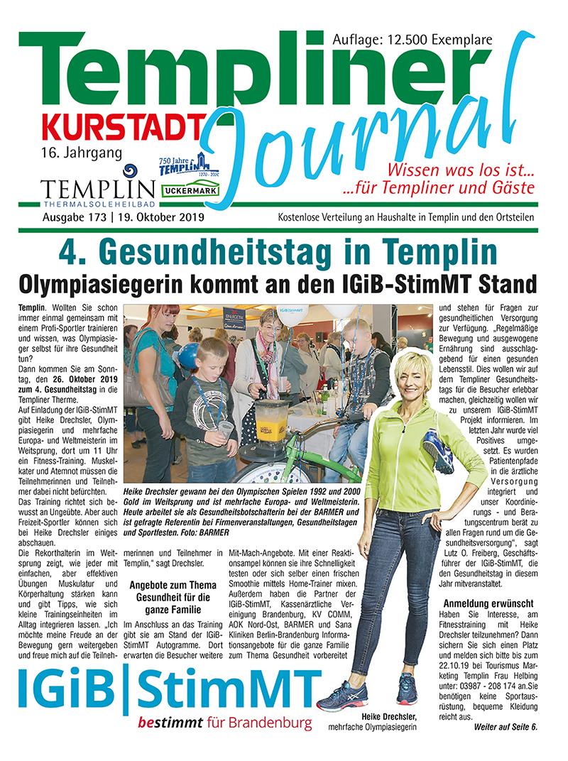 Templiner Kurstadt Journal 173 vom 19.10.2019