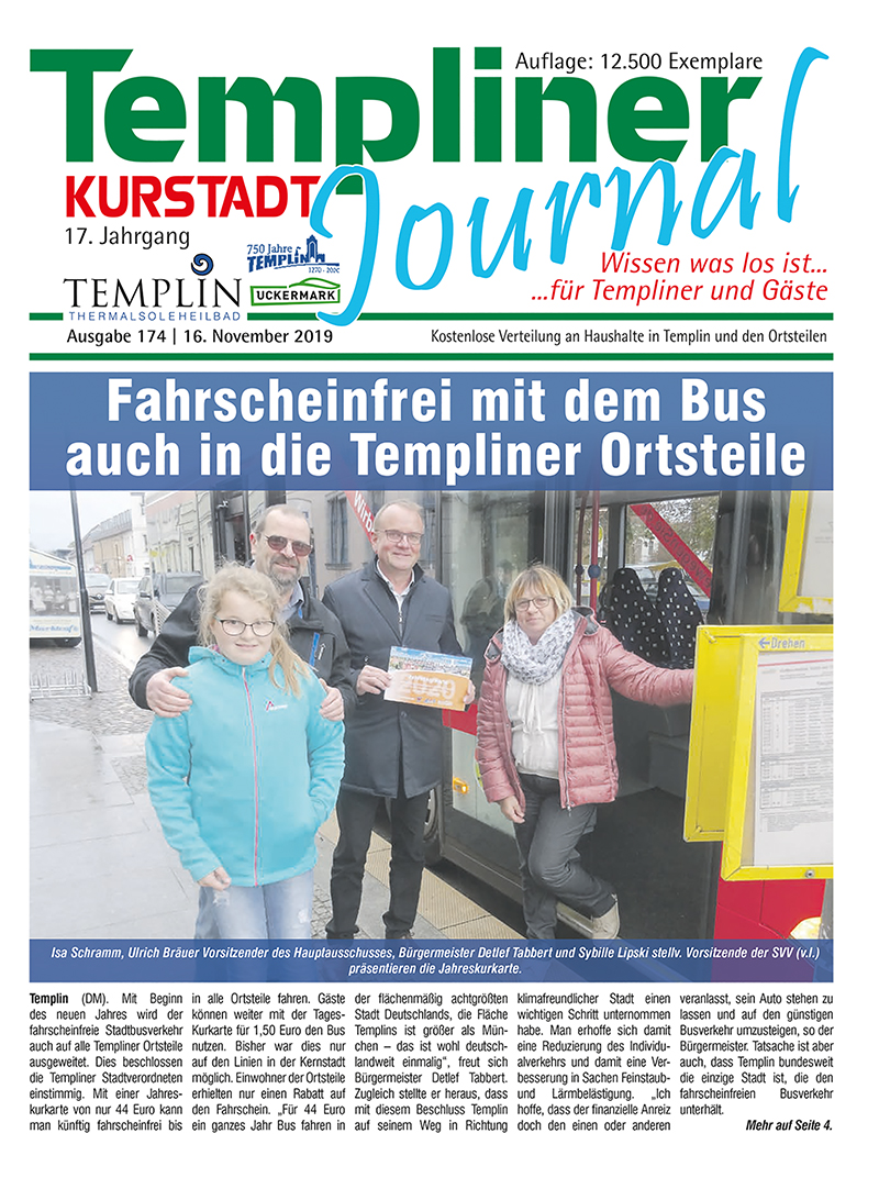 Templiner Kurstadt Journal 174 vom 16.11.2019
