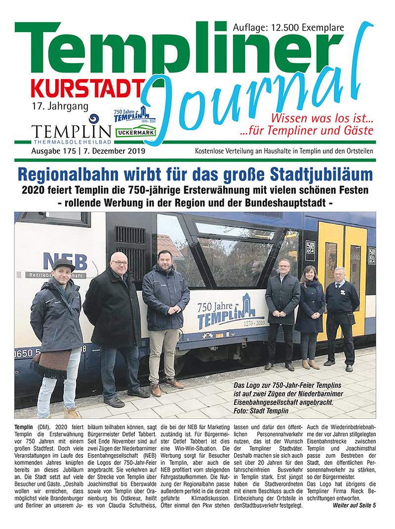 Templiner Kurstadt Journal 175 vom 07.12.2019