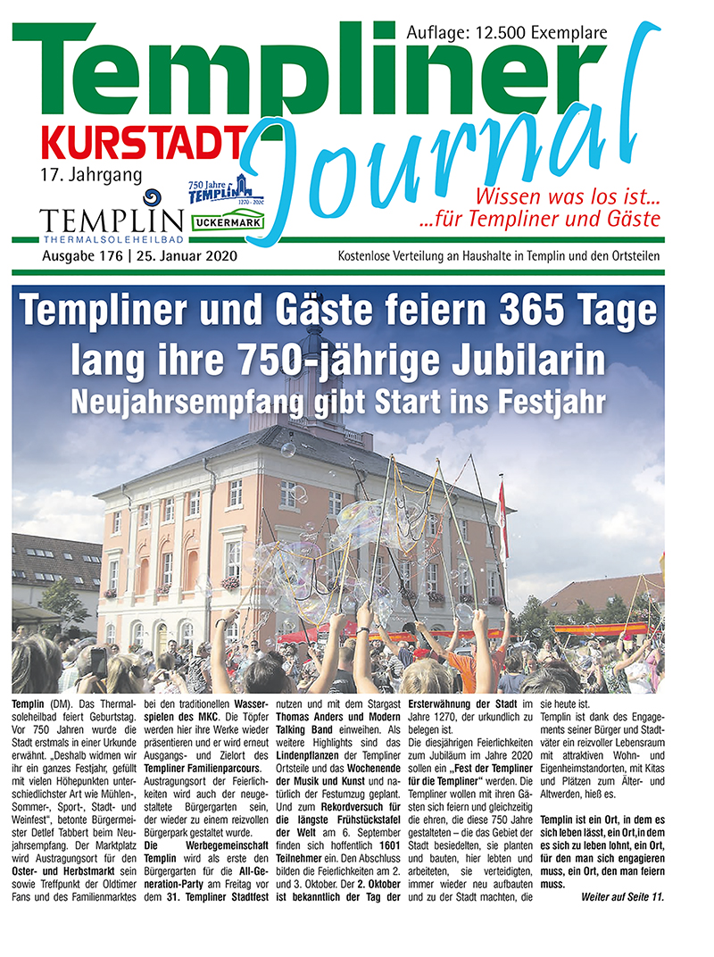 Templiner Kurstadt Journal 176 vom 25.01.2020