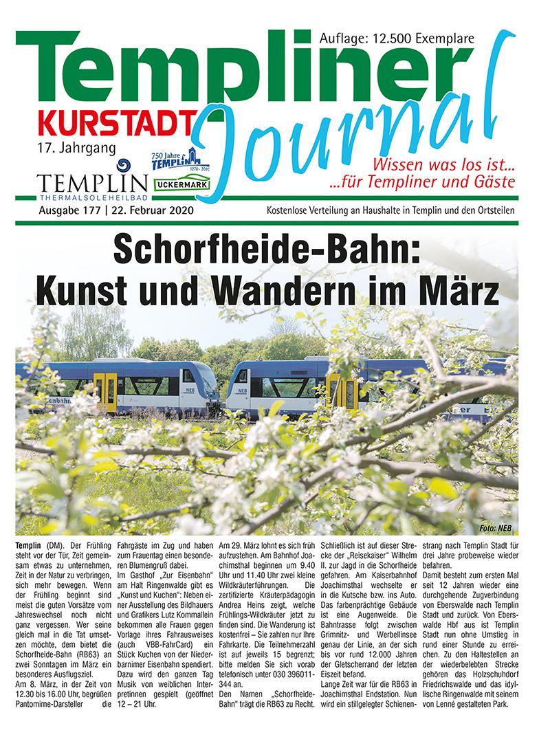 Templiner Kurstadt Journal 177 vom 22.02.2020