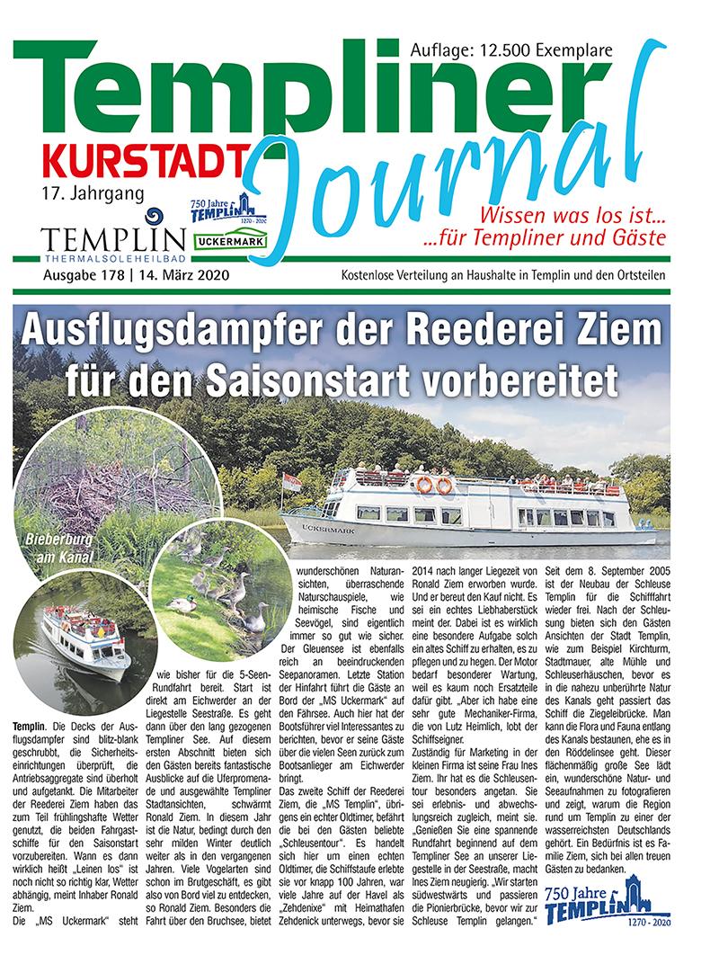 Templiner Kurstadt Journal 178 vom 13.03.2020