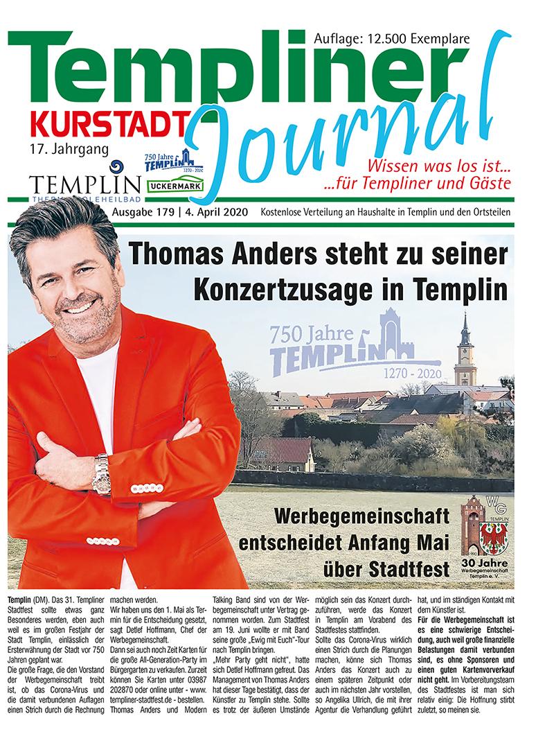 Templiner Kurstadt Journal 179 vom 31.03.2020