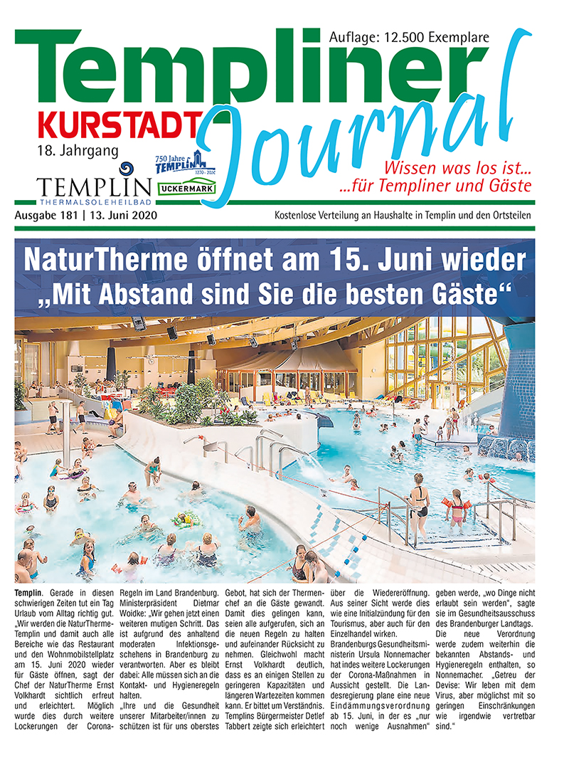 Templiner Kurstadt Journal 181 vom 13.06.2020