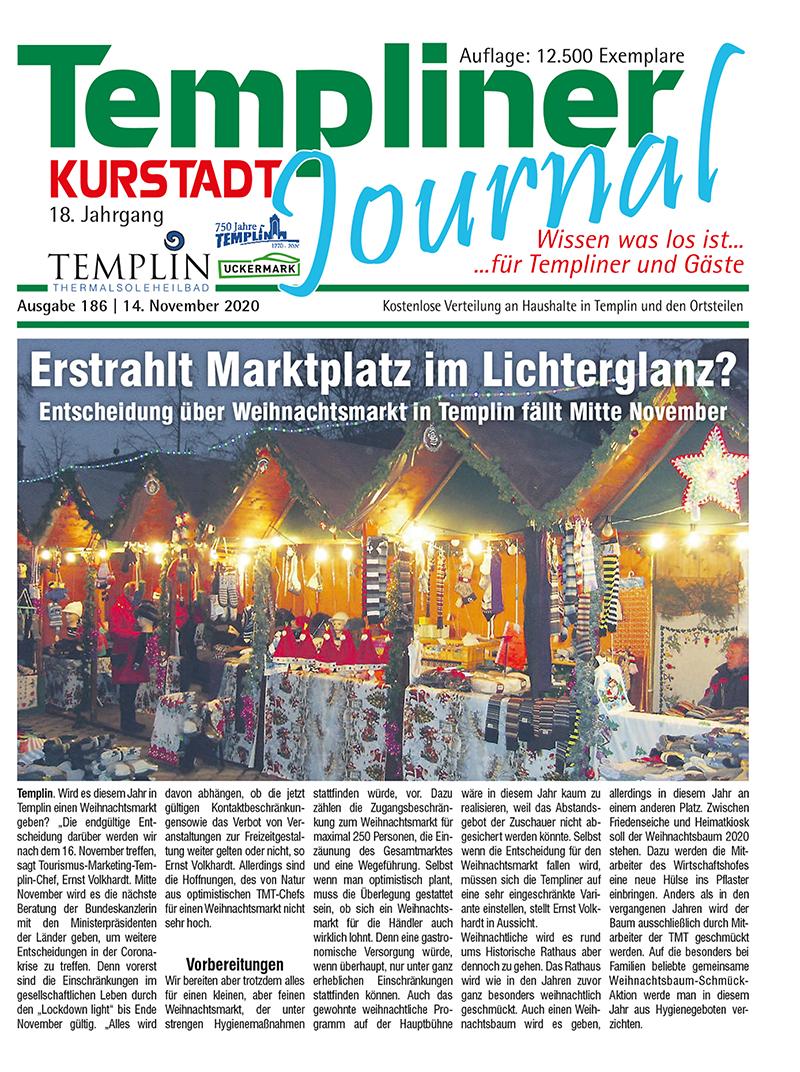 Templiner Kurstadt Journal 186 vom 14.11.2020