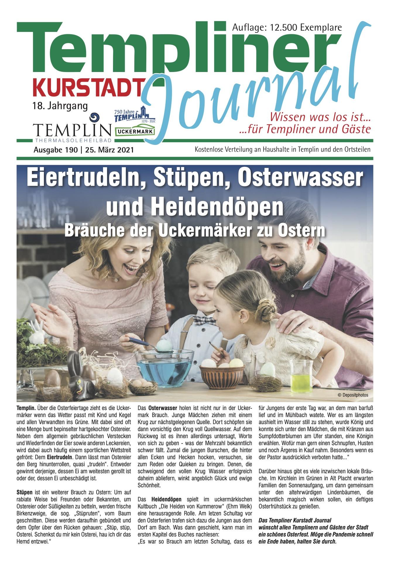 Templiner Kurstadt Journal 190 vom 25.03.2021
