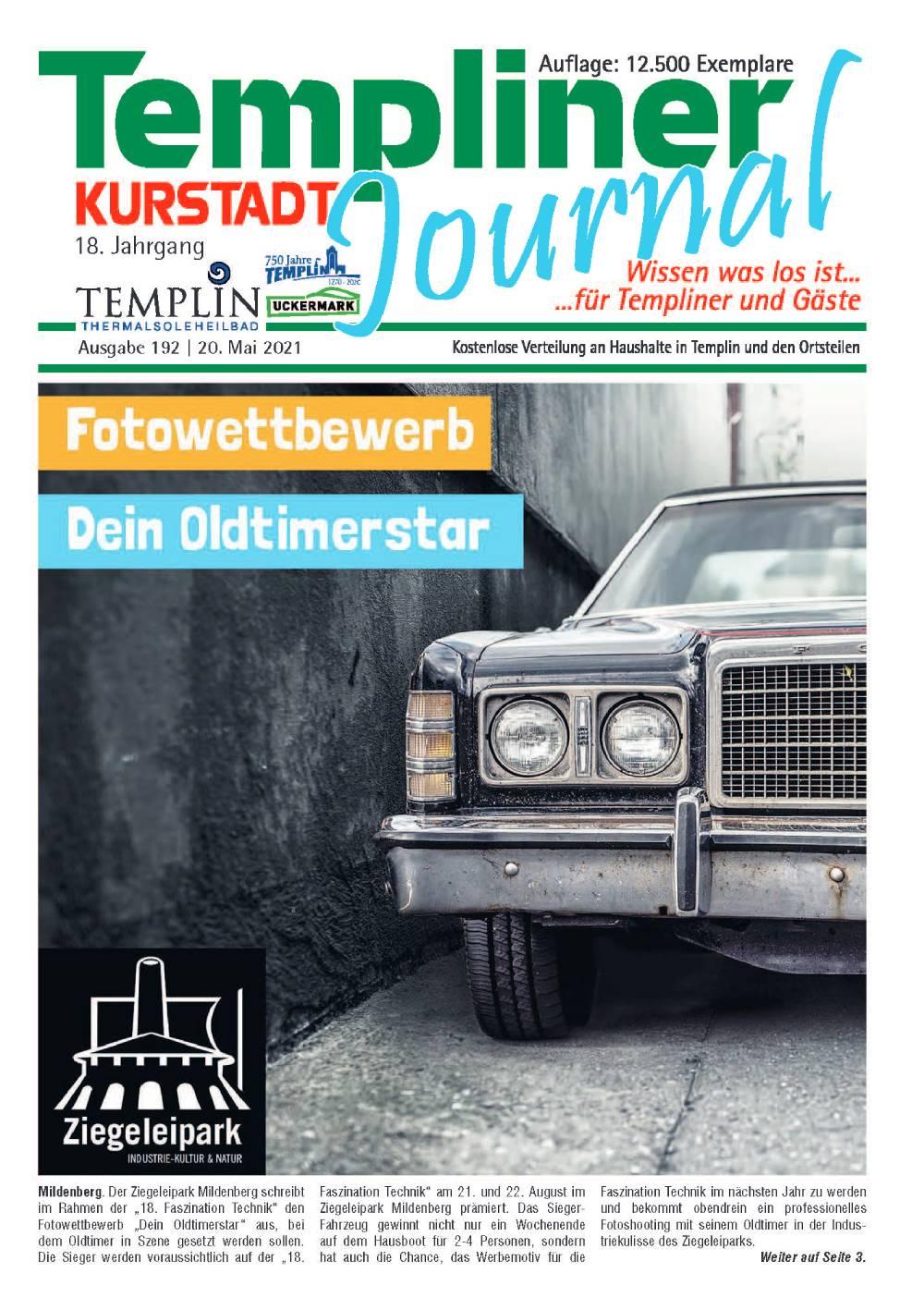 Templiner Kurstadt Journal 192 vom 20.05.2020
