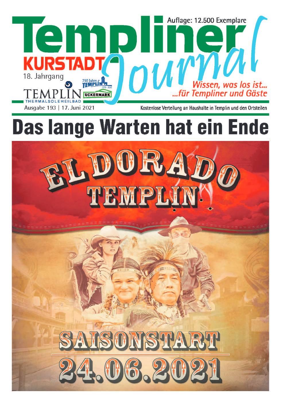 Templiner Kurstadt Journal 193 vom 17.06.2021