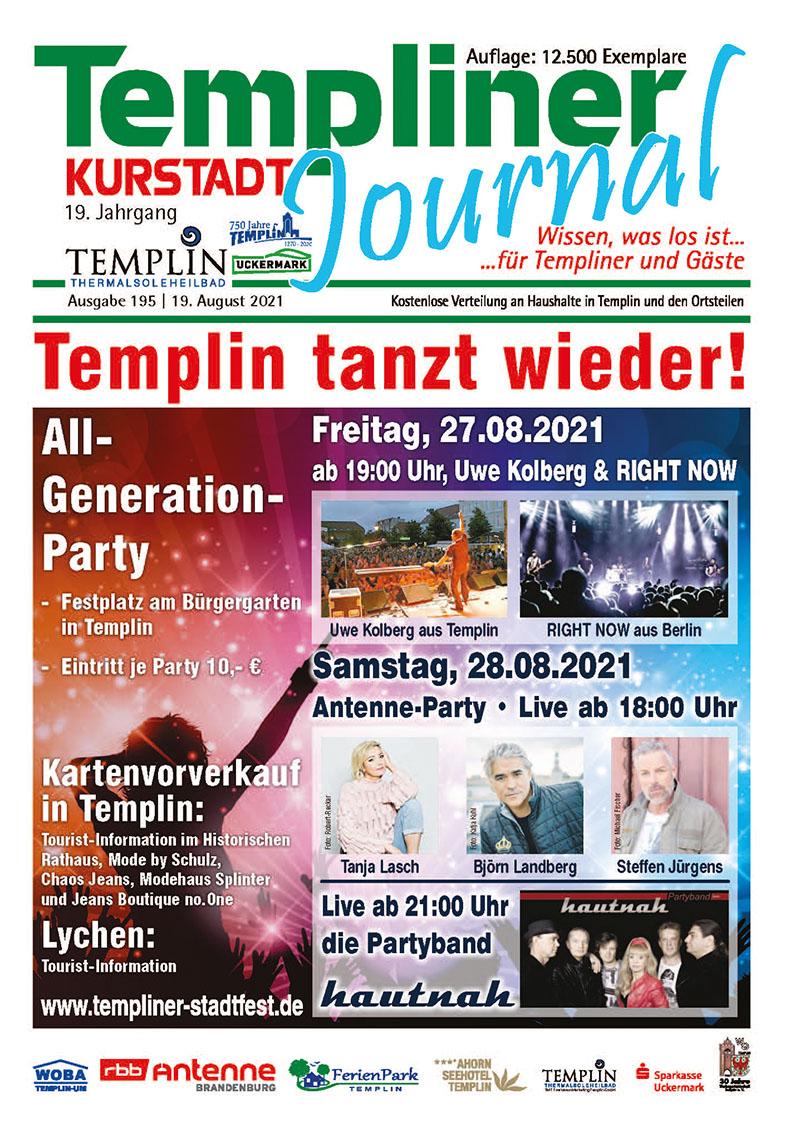 Templiner Kurstadt Journal 195 vom 19.08.2021