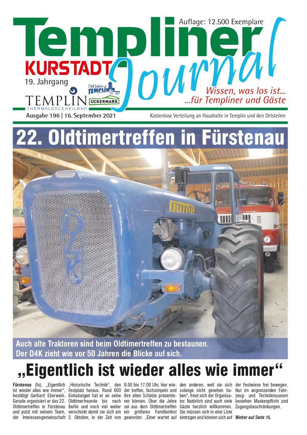 Templiner Kurstadt Journal 196 vom 16.09.2021
